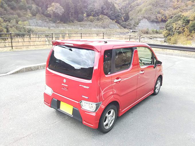 スズキ ワゴンR スティングレー 赤 バック画像