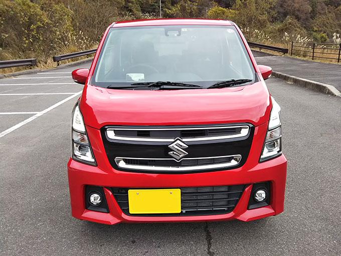 スズキ ワゴンR スティングレー 赤 ライト点灯デザイン